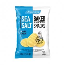 Био печен картофен снакс морска сол без глутен 85 гр.