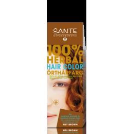 Прахообразна боя за коса - лешниково кафяво