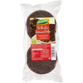 Вафли оризови с натурален шоколад, Био, 100гр