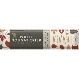 Шоколадов бар с оризово мляко и бяла нуга ВЕГАН 35гр Vivani
