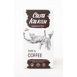 Черен шоколад с кафе 80 гр Casa Kakau