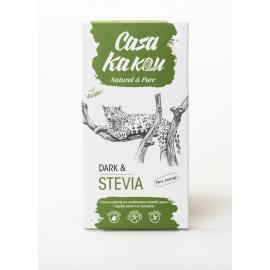 Черен шоколад със стевия 98% - 90гр Casa Kakau
