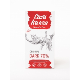 Черен шоколад натурален 70% - 80гр Casa Kakau