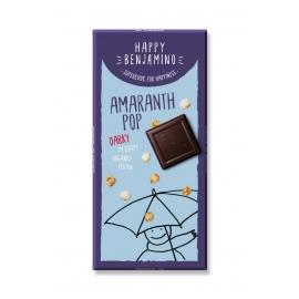 Био шоколад с амарант пуканки 70гр