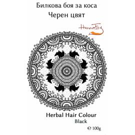 Билкова боя за коса - черен цвят 100гр Хенна Фокс