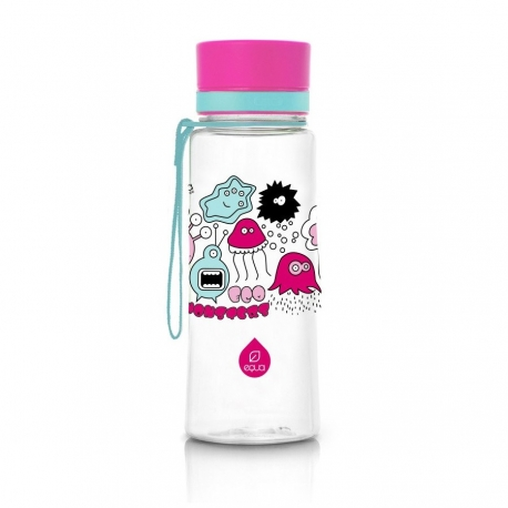 ЕКО бутилка EQUA Розови чудовища BPA free 600 мл.
