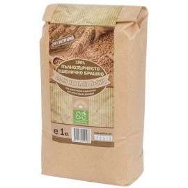 Натурално пълнозърнесто пшенично брашно 1кг Екосем