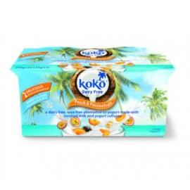 Кокосов йогурт с праскова и маракуя 2х125гр