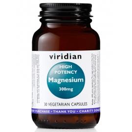 Магнезий 300мг (високо потенциран) 30капс. Viridian