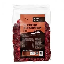 Био Червени боровинки подсладени 100гр