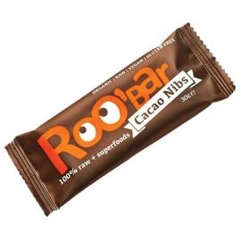 Roobar Суров бар какаови зърна и бадеми 30гр