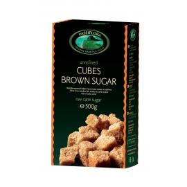 Нерафинирана кафява захар на бучки 300g