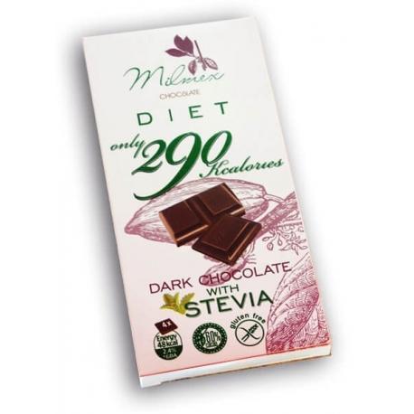 """Диетичен шоколад """"290"""" с еритритол и стевия 80гр"""
