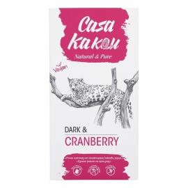 Черен шоколад с червена боровинка 90 гр Casa Kakau