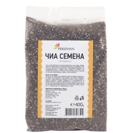 Чиа семена Peruvian - сурови - произход Боливия 400гр