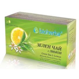 Зелен чай с лимон 30гр Биохерба