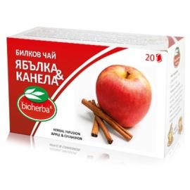 Билков чай Ябълка и канела 20бр. Биохерба