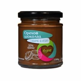 Орехов шоколад веган 200гр