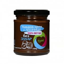 Веган течен шоколад с лешници, без захар 200g