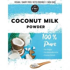 Чисто кокосово мляко на прах 150гр 63% масленост