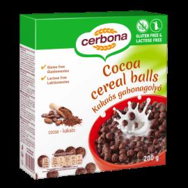 Безглутенови шоколадови зърнени топчета без лактоза CERBONA 200 г