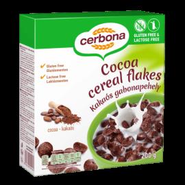Безглутенов шоколадов корнфлейкс без лактоза CERBONA 200 г