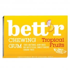 Дъвки без захар с ксилитол Tropical fruits 17г