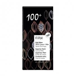 БИО шоколад натурален 100% с какаови зърна 80г