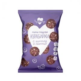 БИО Мини плодови курабийки с шоколад и лешници 100g