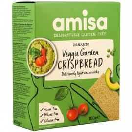 Био хрупкави хлебчета със зеленчуци 100гр Амиса