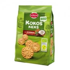 Кокосови бисквити с шок парченца 125гр Wikana