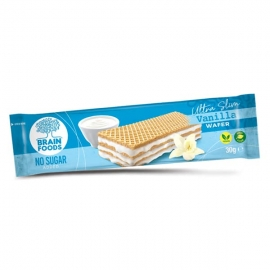 Веган вафла с ванилия, без добавена захар, Brain Foods, 30g