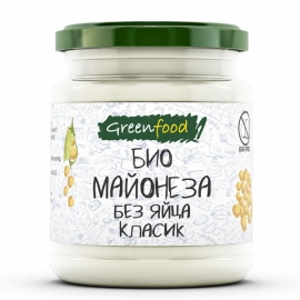 Био майонеза без яйца Класик, Greenfood, 260g