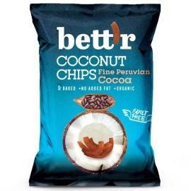 Кокосов чипс с какао 40гр bettr