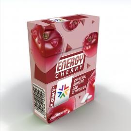 Дъвка без захар ENERGY CHERRY 22,5g, V-gums