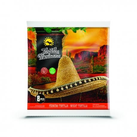 Тортили Мексикана Пшенични 8 бр, 20 см 320g