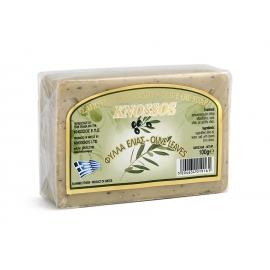 Натурален бял сапун със зехтин и маслинови листа 100г