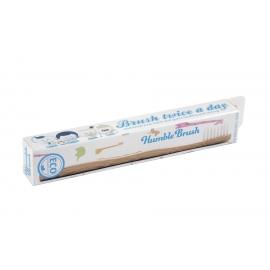 Детска бамбукова четка за зъби - бяла