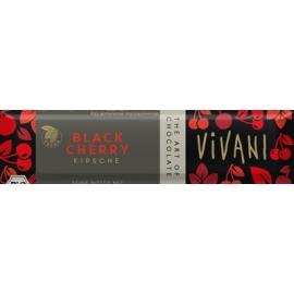 Натурален шоколадов бар с вишни 35гр Vivani